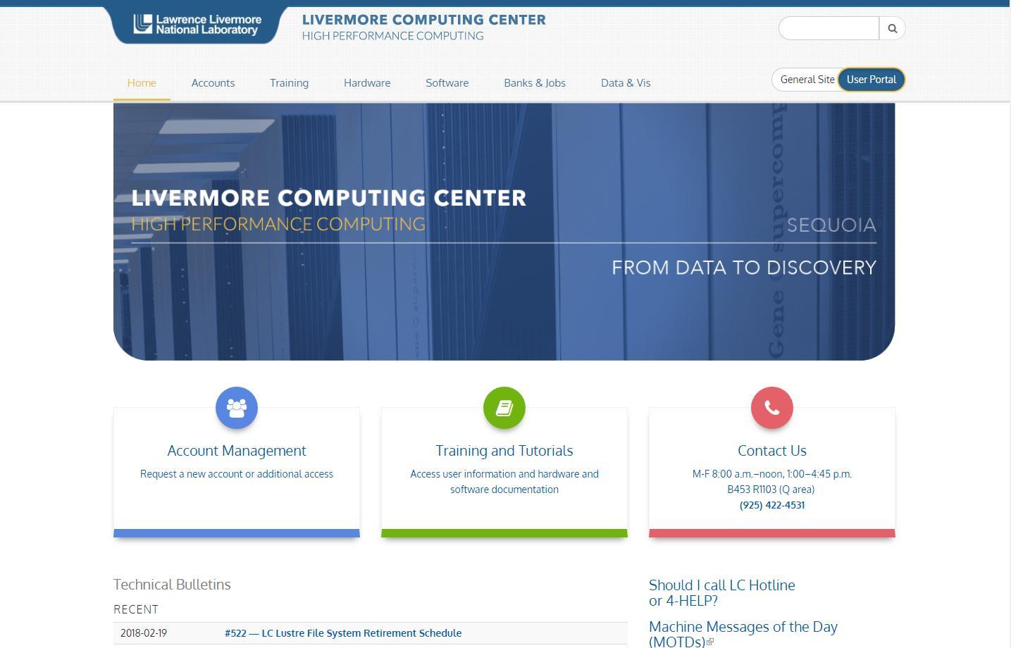 LC Homepage screenshot