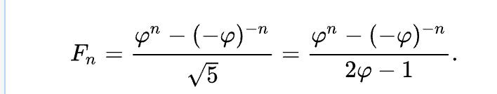 Binet's formula