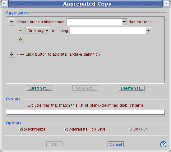 Aggregated copy dialog