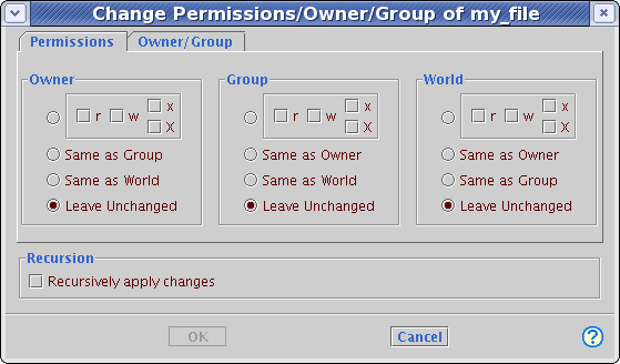 Screenshot of the dialog with options available if the default is too limited