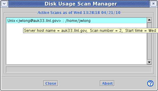 image of Disk Usage Monitor dialog