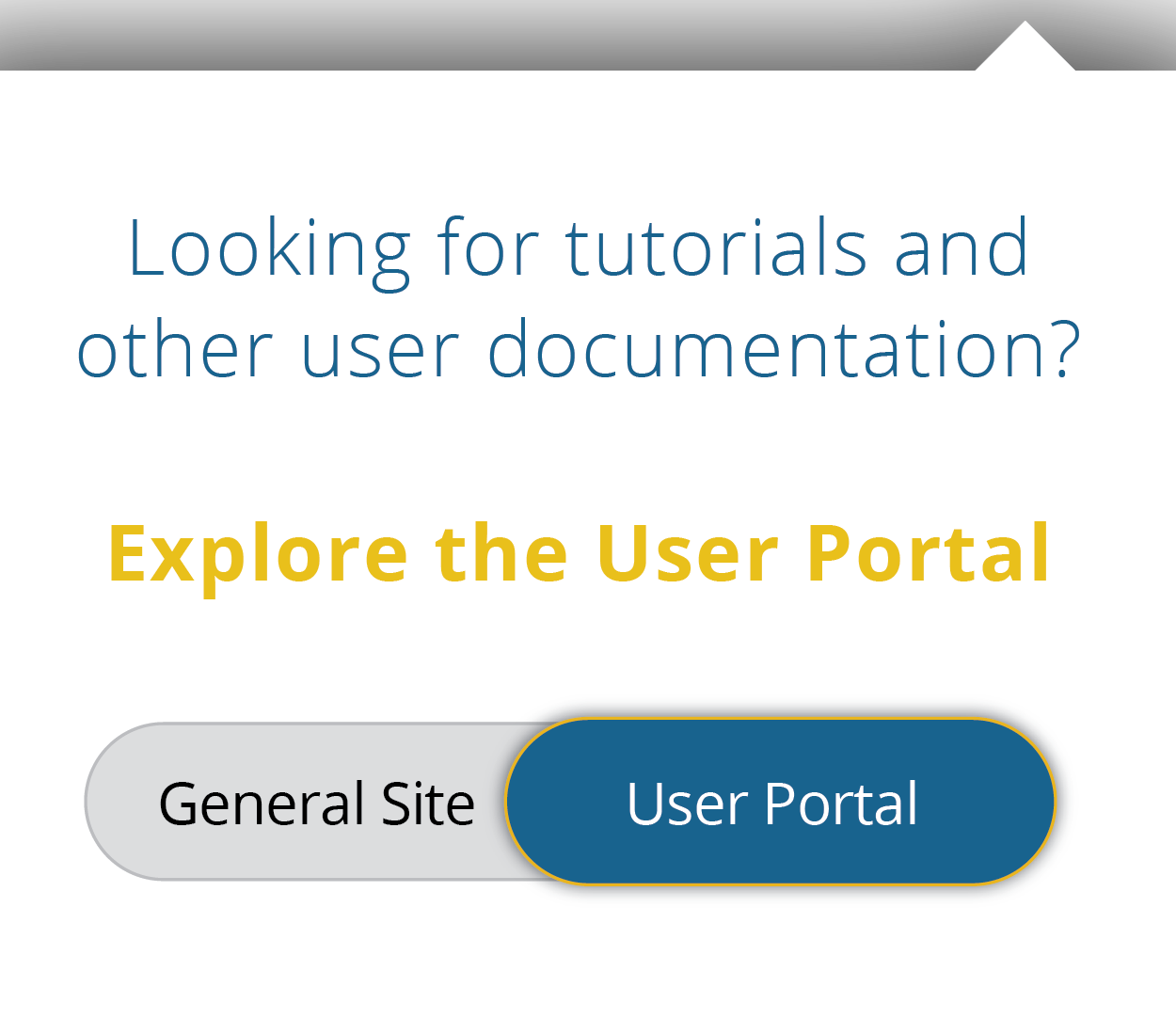 image instructs people who are looking for User Documentation to click on the