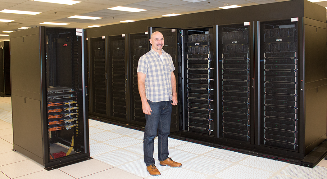 Ned Bass in front of one of LC's Lustre systems