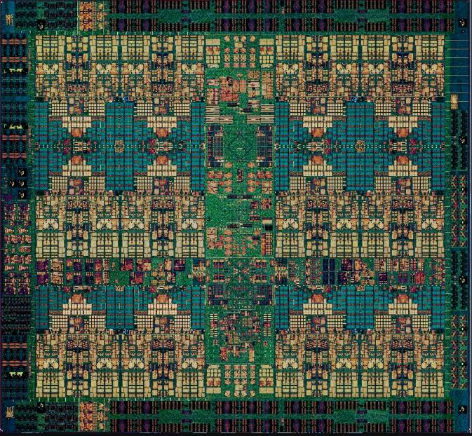 Power9 processor chip die