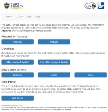 screen shot of portal UI