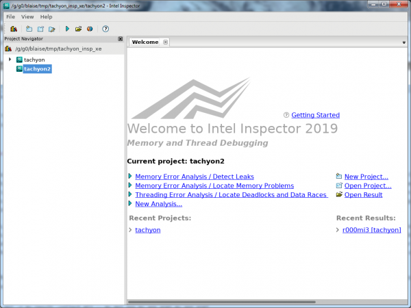 Intel Inspector Configure Analysis