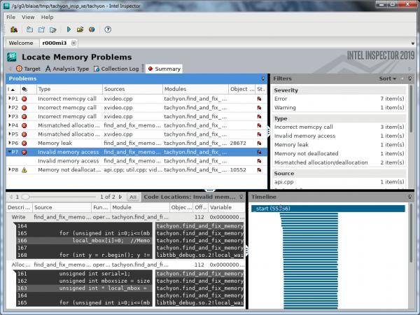 Intel Inspector Memory Error Analysis