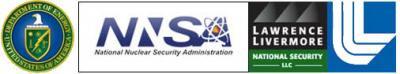 Logos for the DOE, NNSA, LLNS, and LLNL