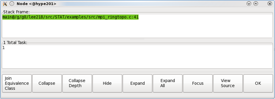 STAT GUI node dialog