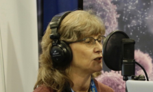 Ulrike Meier Yang being interviewed