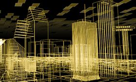 autocad cityscape image, largely for decoration