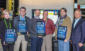 People receiving HPCWire awards