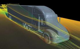 Truck airflow simulation