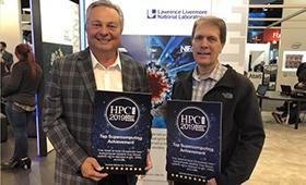 Bronis accepts HPCWire Award