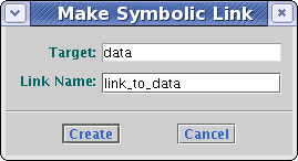 image of the dialog for Creating Symbolic Links
