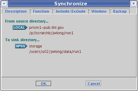 Synchronize description tab