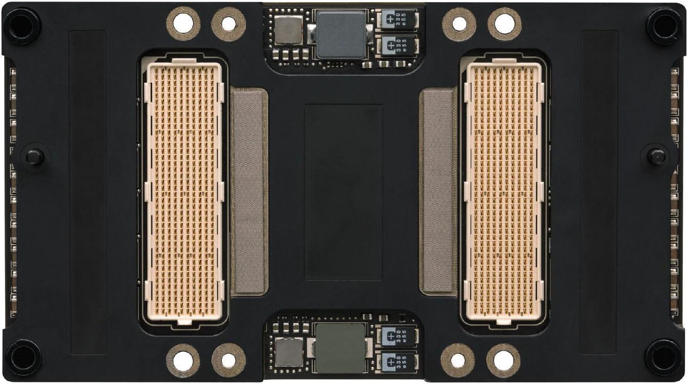 NVIDIA Tesla P100 with Pascal GP100 GPU back